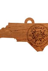 LazerEdge Wood Ornament State Wingate Seal