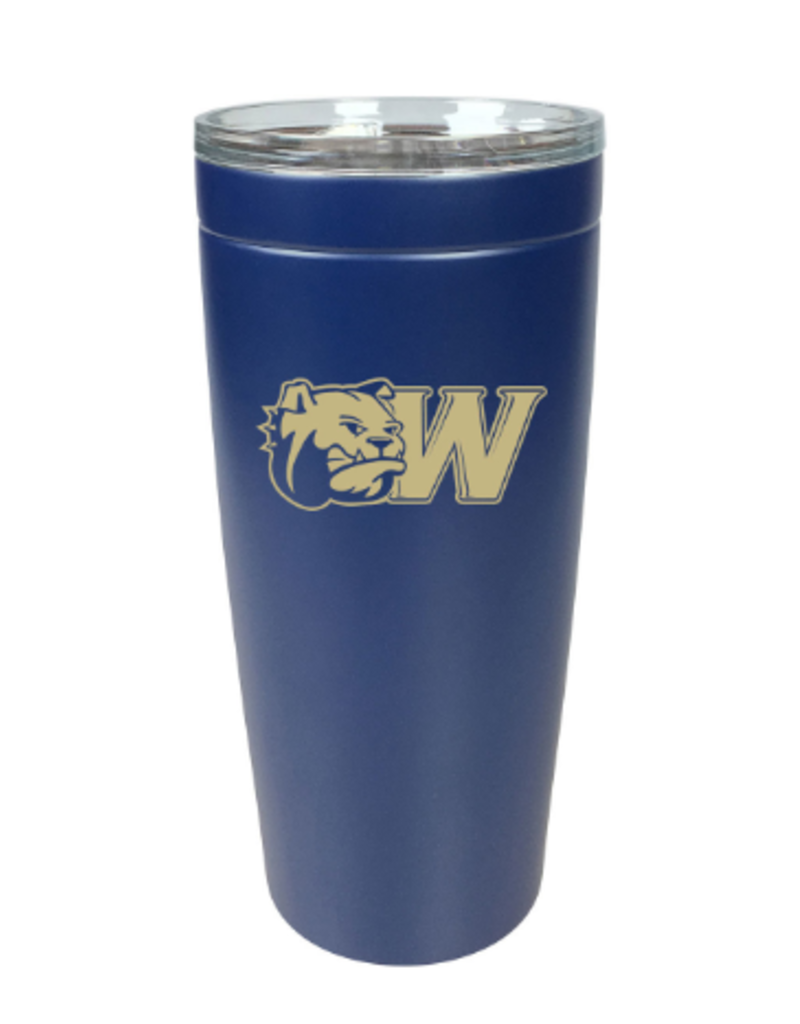 32oz Navy Vacuum Insulated Dog Head W Tumbler