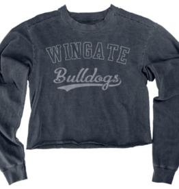 Indigo Crop Sweatshirt