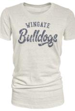 Tri-blend Oatmeal Wingate Bulldogs SS
