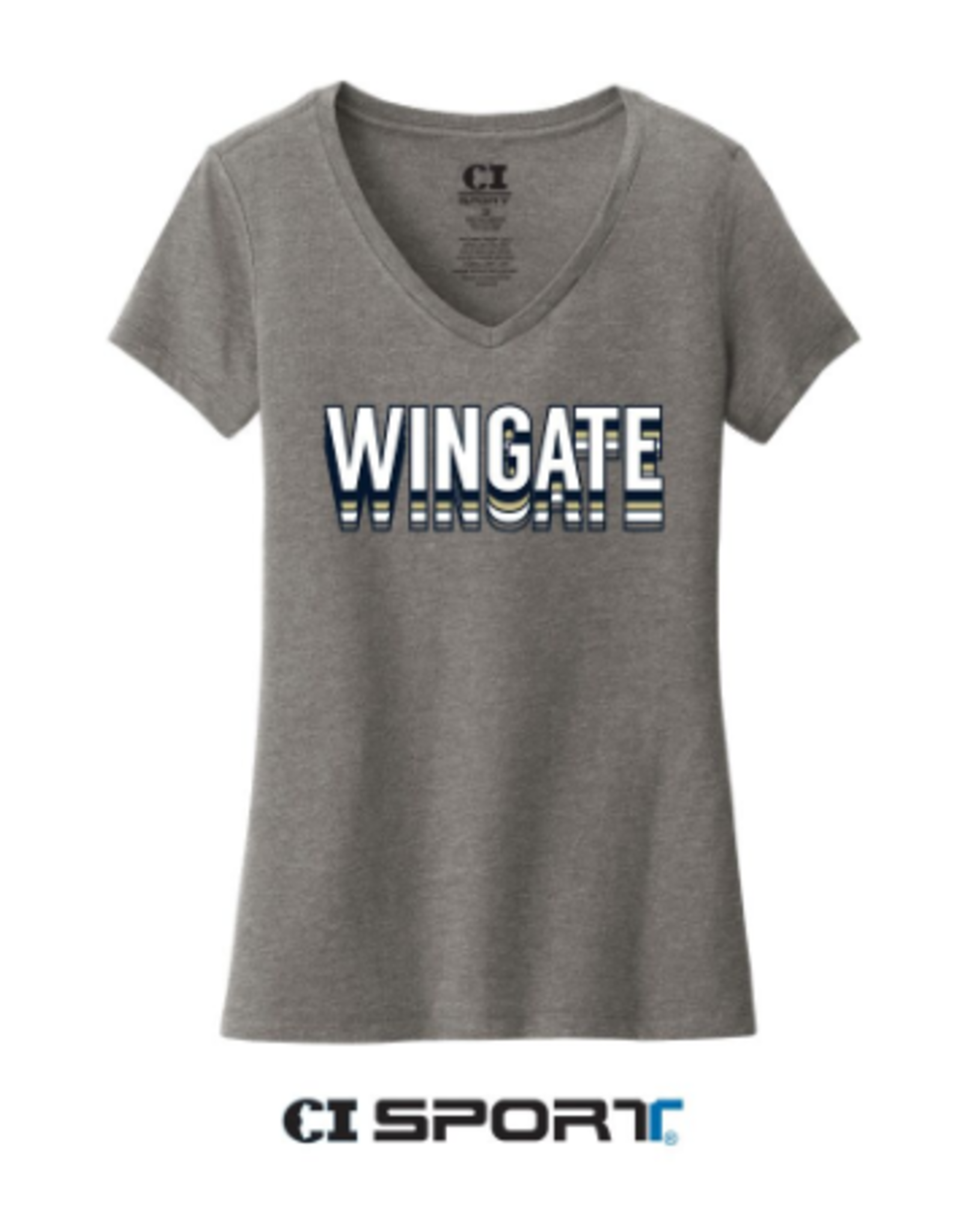 Wingate Text Bubble Grey V-Neck SS