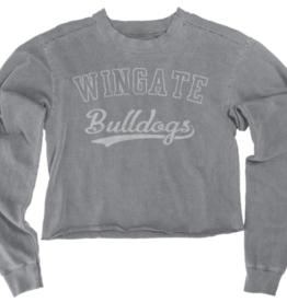 Blue 84 Steel Grey Crop Sweatshirt