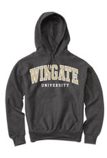 MV Sport Charcoal Wingate University Embroidered Hoodie