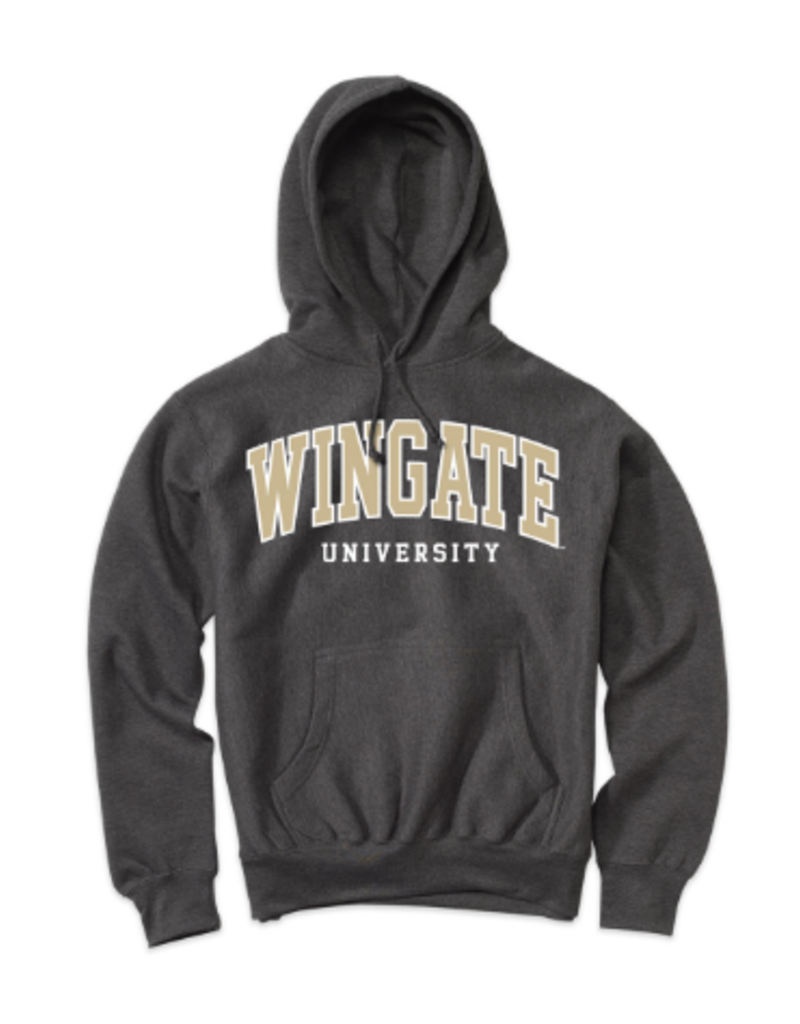 MV Sport Charcoal Wingate University Embroidered Hood