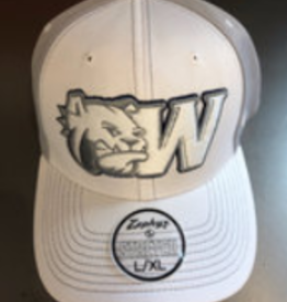 White Bulldog Head W Hat