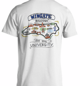 Comfort Colors Campus Doodle White Wingate SS Tee