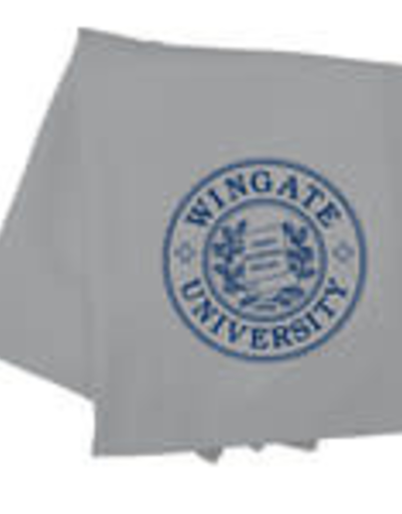 "54"" x 84"" Grey Oxford Sweatshirt Blanket with Seal"