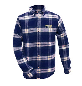 Youth Plaid Flannel Button Down