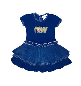 Navy Pin Dot Tutu Dress
