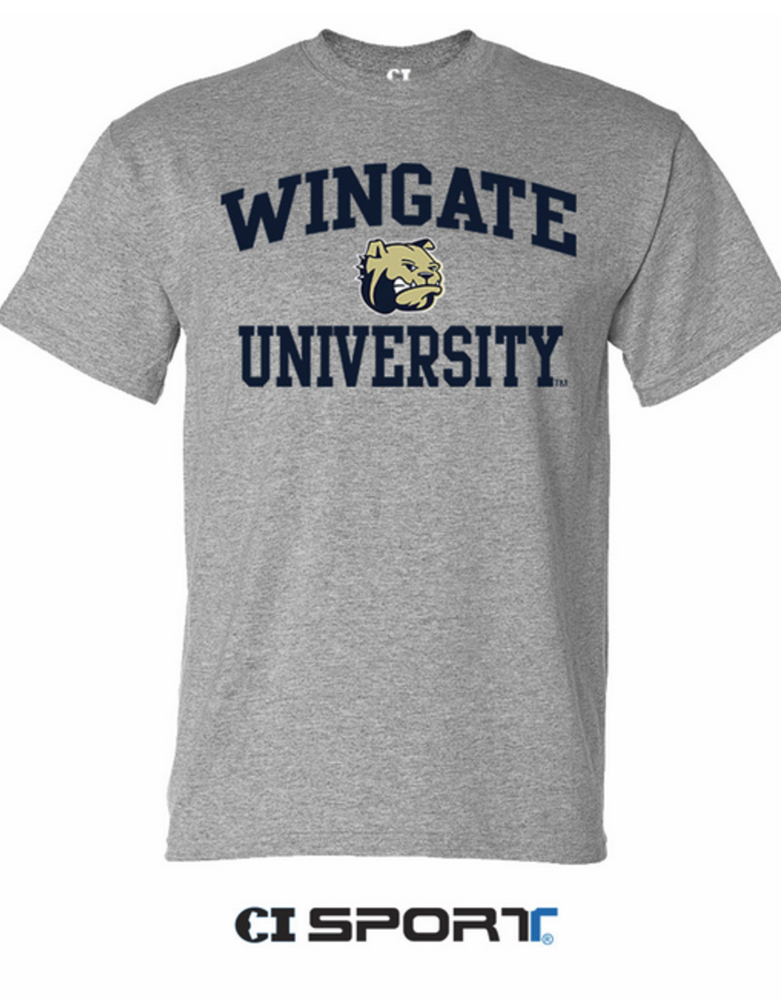Toddler Wingate Dog Head University Grey SS Tee