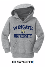 Toddler Wingate Dog Head University Grey Hoodie