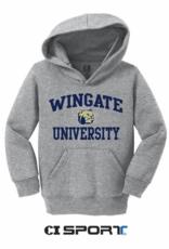Toddler Wingate Dog Head University Grey Hoodie