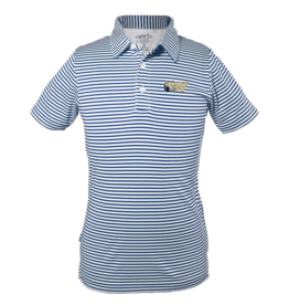 Toddler and Youth Navy Stripe Polo