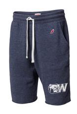 Navy Sweatpant Shorts