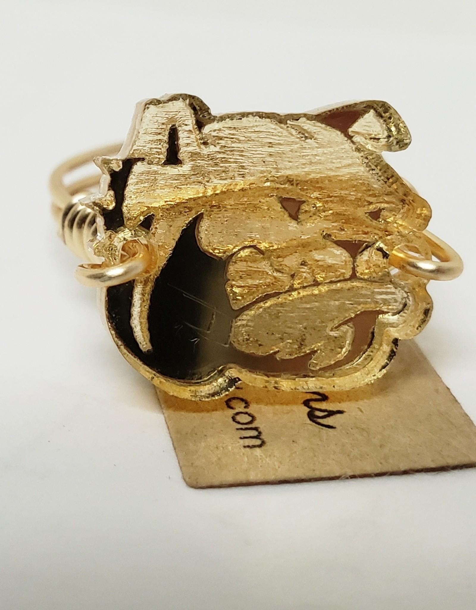 Gold Dog Head Ring
