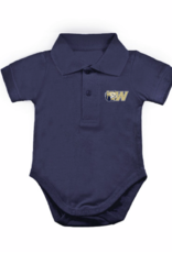 Navy Golf Shirt Romper