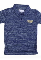 Toddler Navy Spacedye Polo