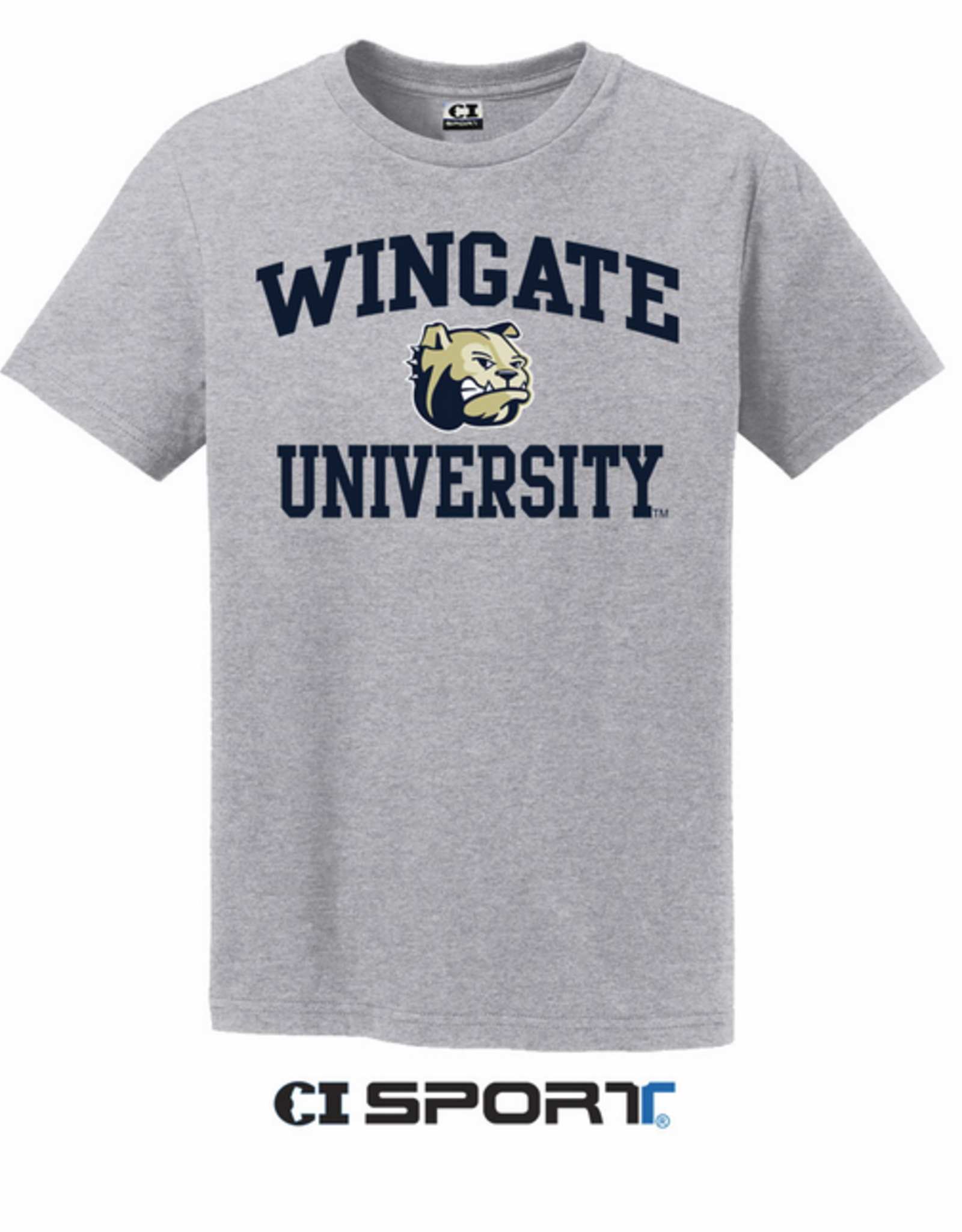 Youth Basic Grey Wingate Dog Head University SS Tee
