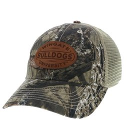 Real Tree Camo Trucker Leather Patch Snap Back