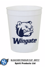 16oz Plastic Navy Party Cup bulldog and Wingate under