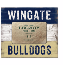 6X4 Faux Wood Frame Navy White Gold Wingate Bulldogs