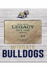 6X4 Faux Wood Frame Full Dog Wingate Bulldogs
