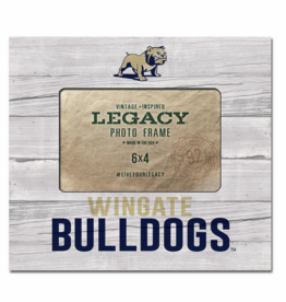 6X4 Faux Wood Frame Full Dog Wingate Bulldogs