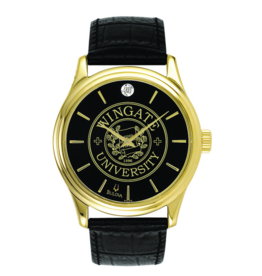 Men Black Band Bulova Round Diamond Watch