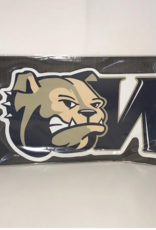 Color Shock Gameday Magnet Bulldog Head with W Logo Large