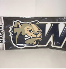 Color Shock Large Gameday Magnet Bulldog Head with W Logo