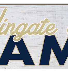 Legacy 3x13 White Wooden Wingate Bulldogs Family Plaque