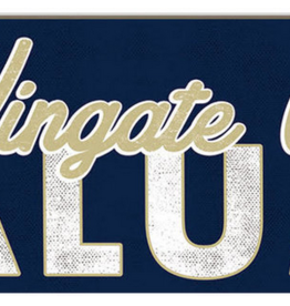 Legacy 3x13 Wooden Navy Wingate University Alumni Plaque