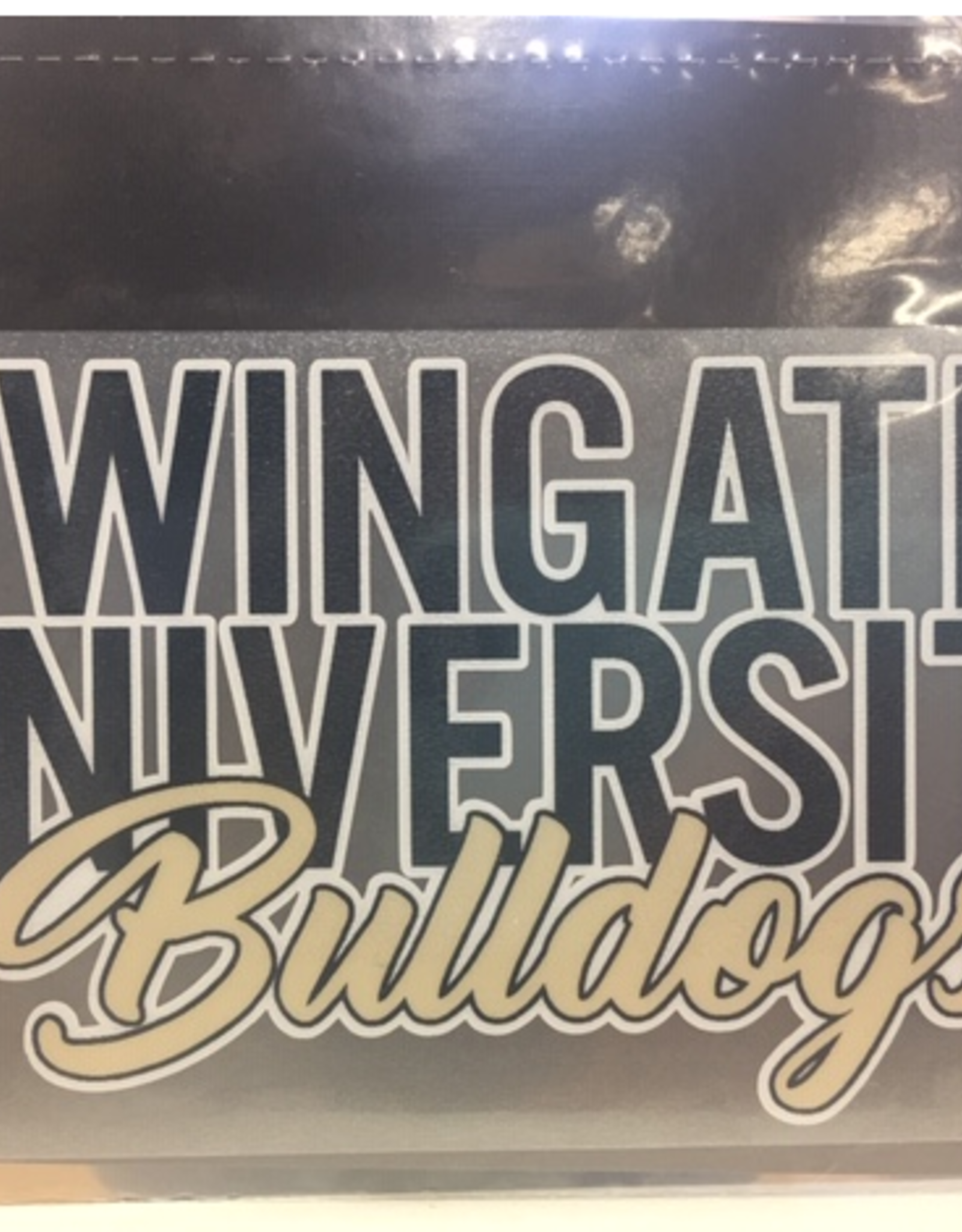 Color Shock Wingate University Navy Over Bulldogs Gold Script