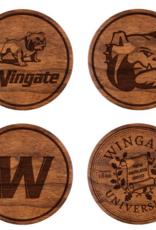 LazerEdge Variety 4 Pack Wood Coasters
