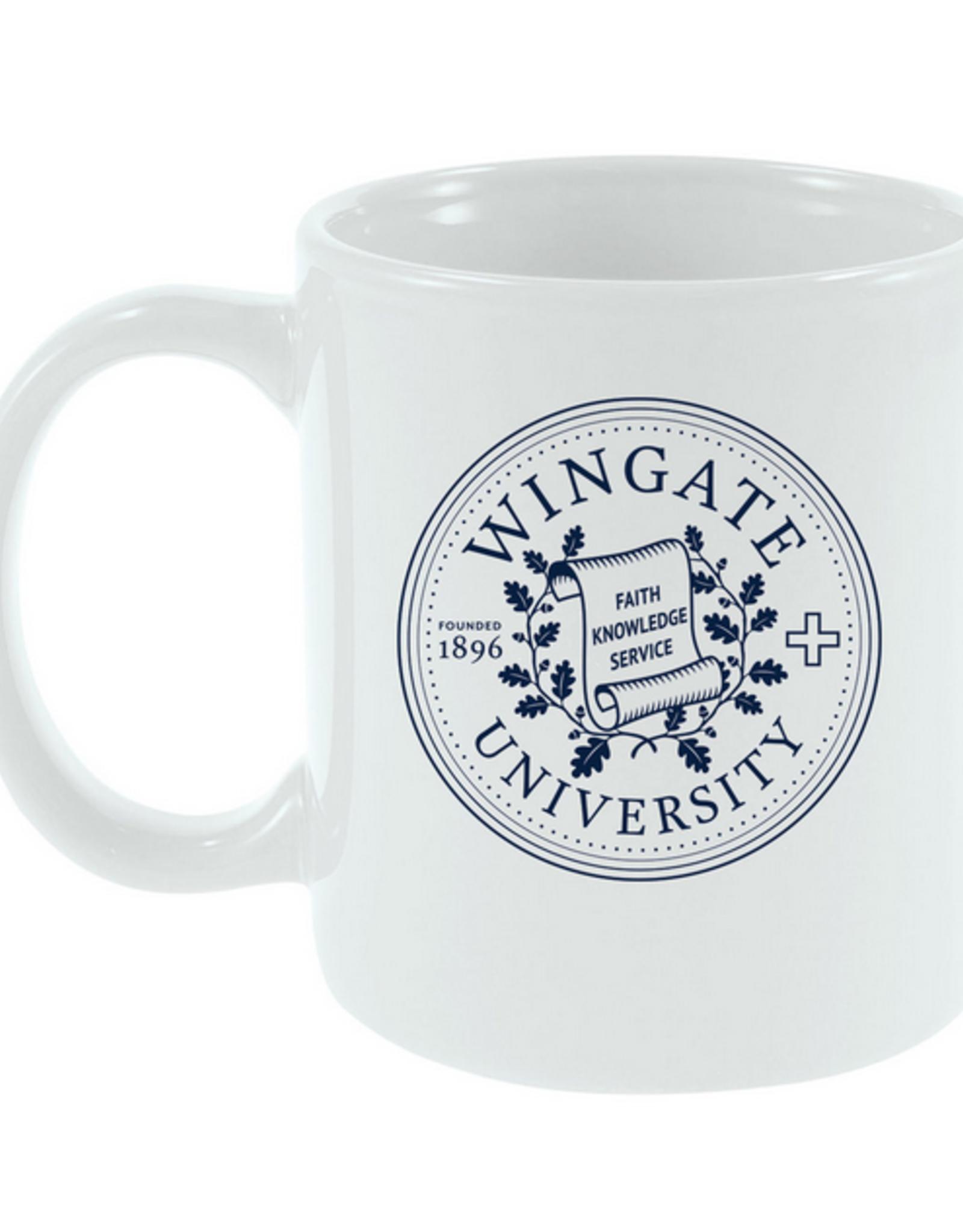 11oz Wingate Seal Cafe White Mug