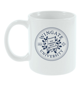 11oz Wingate Seal Cafe White Mug