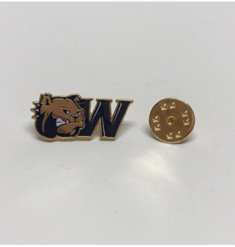 Lapel Pin Dog Head W