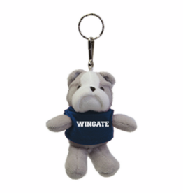 Plush Bulldog Keychain and Magnet