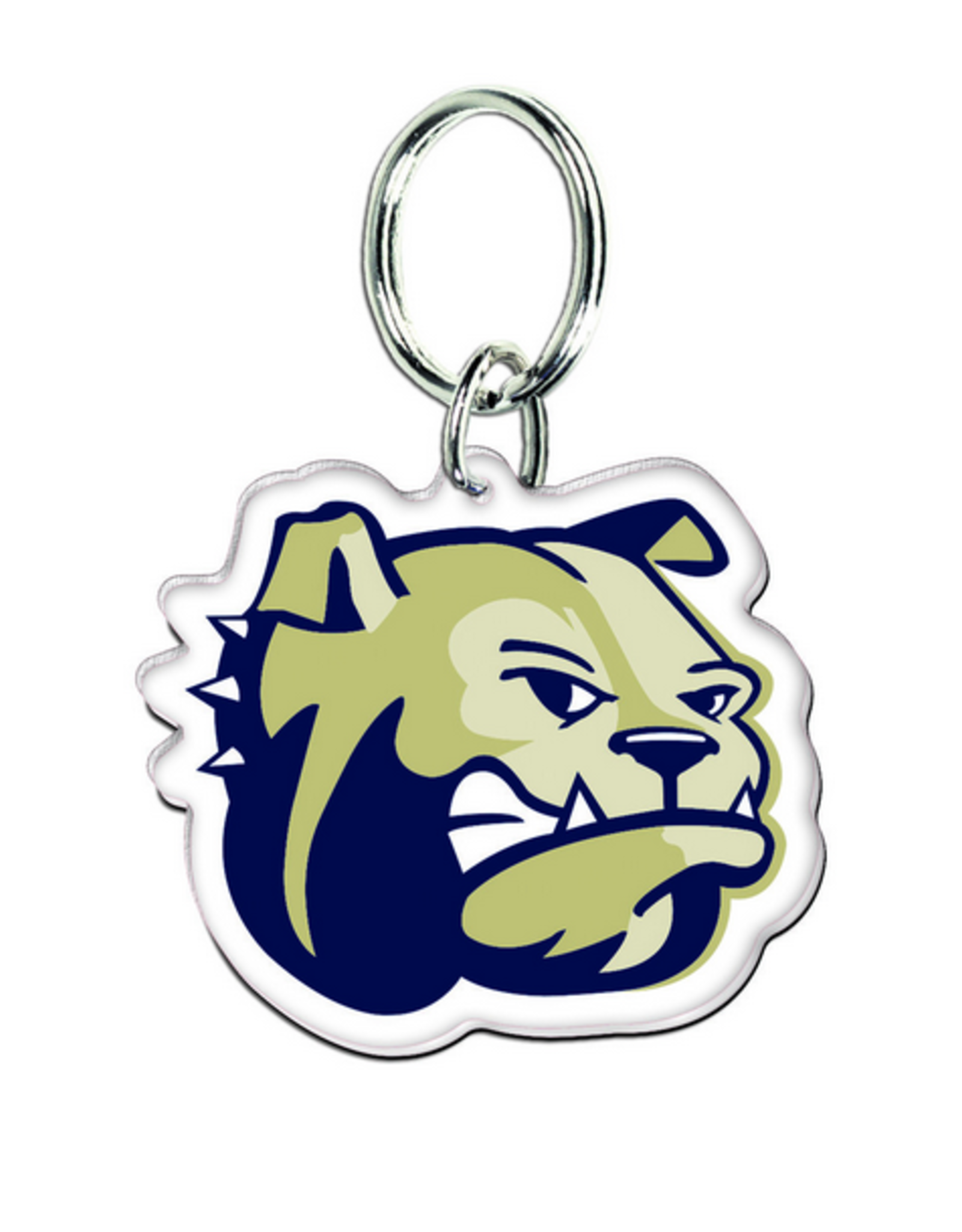 Dog Head Mirror Back Keychain