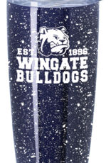 18oz Navy White Speckled Stainless Tumbler with Closure Lid