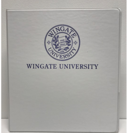 "1"" White Binder Navy Seal Wingate University"