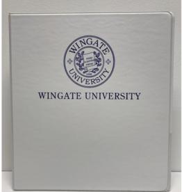 """1"""" White Binder Navy Seal Wingate University"""