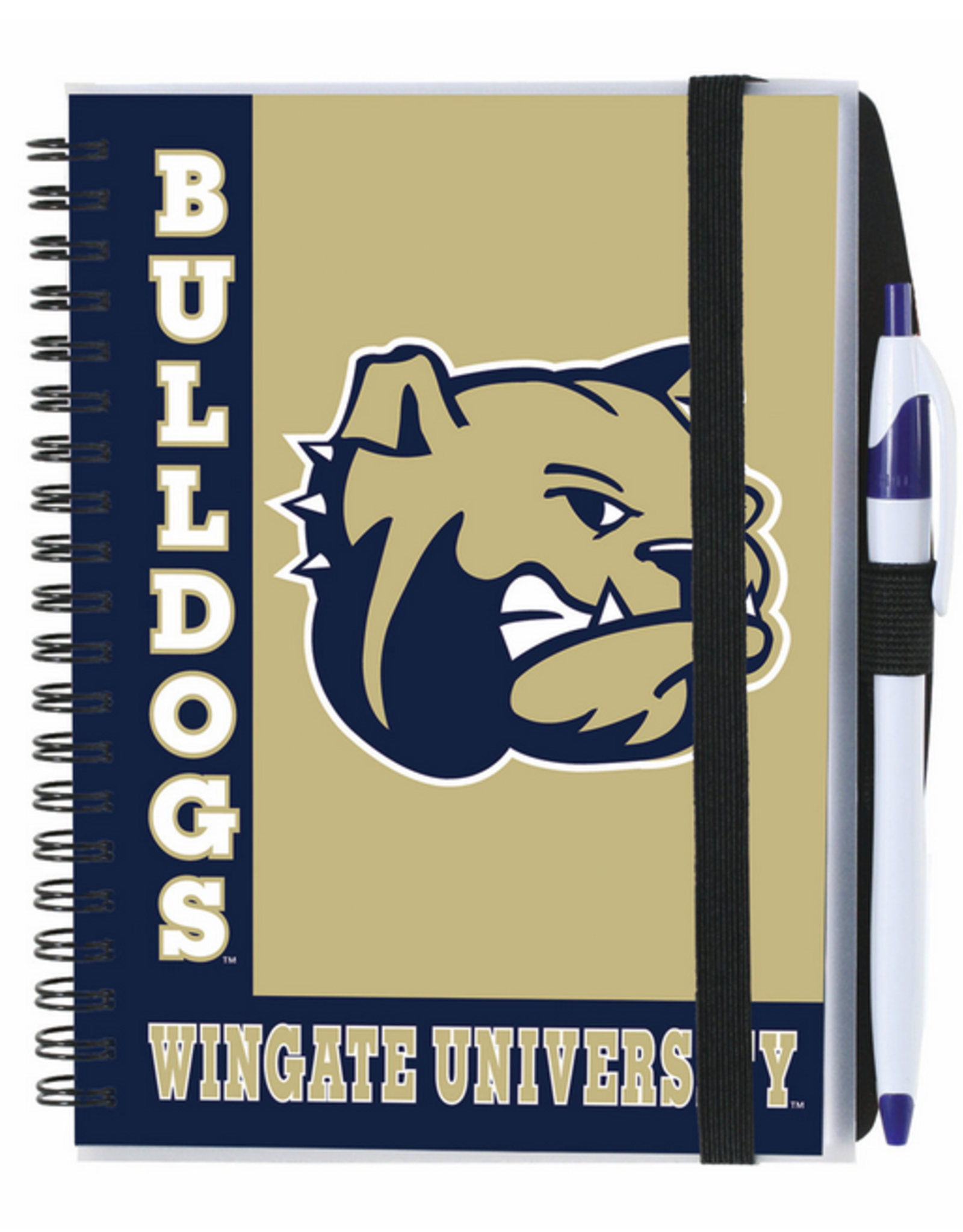 Blue and Gold Journal with Bulldog Head