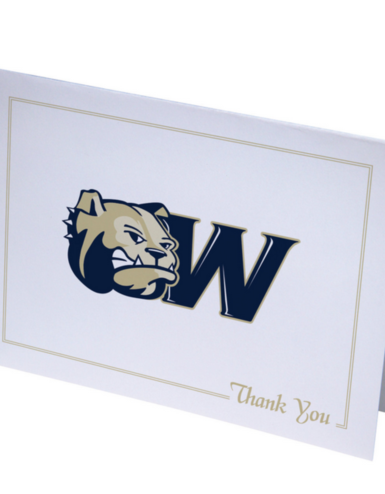 10 Dog Head W Thank You Notecards