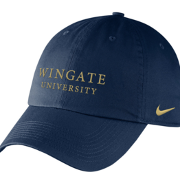 Nike Navy Wingate University Drifit Tech Unstructured Adjustable Hat