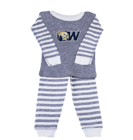 Infant & Toddler Grey Striped Pajama