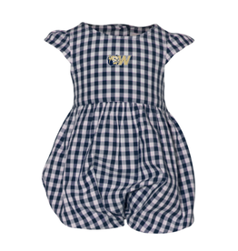 Infant Ruffle Gingham Bubble Onesie