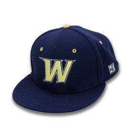 Navy Flex Fit W Baseball Hat