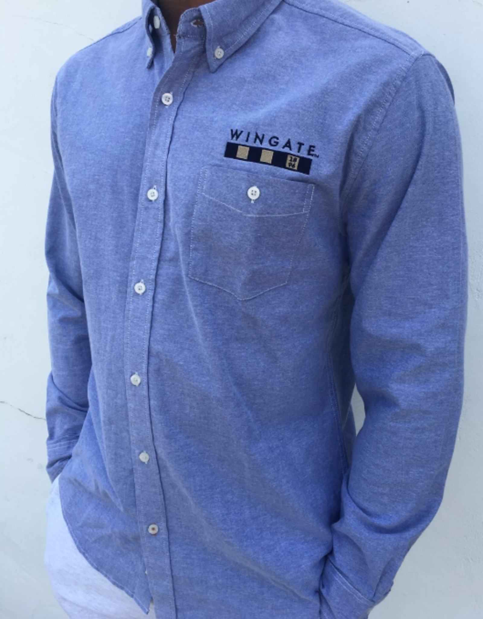 Vintage Blue Stretch Executive Button Down