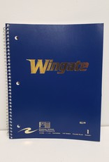 1 Subject Navy Spiral Notebook Gold Wingate